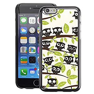 Planetar® ( Forest Trees Pattern Drawing Cute ) Apple iPhone 6 / 6S (4.7 inches!!!) Fundas Cover Cubre Hard Case Cover