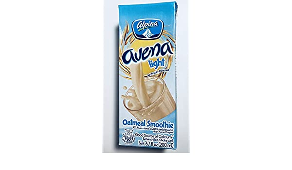 Amazon.com : Alpina Avena Light Oatmeal Smoothie, 6.7 Oz (200 ml) Pack of 18 : Grocery & Gourmet Food