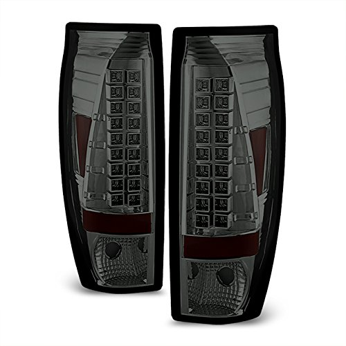 02-06 Chevy Avalanche Pickup GMT800 Rear Smoke LED Tail Lights Brake Lamps Taillamps ()