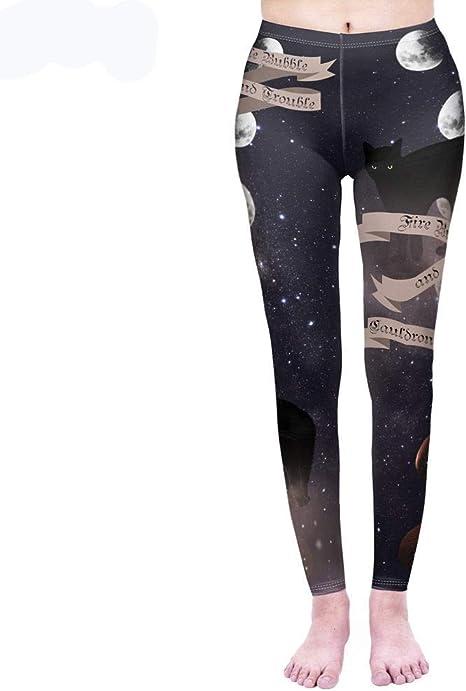 MAOYYMYJK Legging de Moda para Mujer Gatos mágicos Leggins de impresión Leggings Punk de Cintura Alta Workou Legins Slim Fitness Pants: Amazon.es: Deportes y aire libre