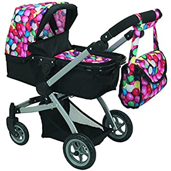 Amazon.com: Babyboo Deluxe Doll Pram Color Gumball & Black