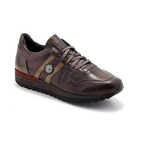 Exton Sneaker Uomo Bassa Enna Marrone 555  Amazon.it  Scarpe e borse 00db7394d0b