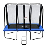Exacme Rectangle Trampoline(7x10 FT) with Enclosure Net | High Weight Limit | Easy Installation (Blue)