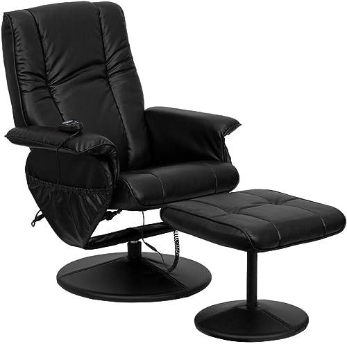 Flash Furniture Massaging Heat Controlled Adjustable Recliner