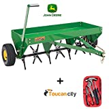 John Deere 40 in. Tow-Behind Plug Aerator PA-40JD and Toucan City Tool Kit ( 15-Piece )