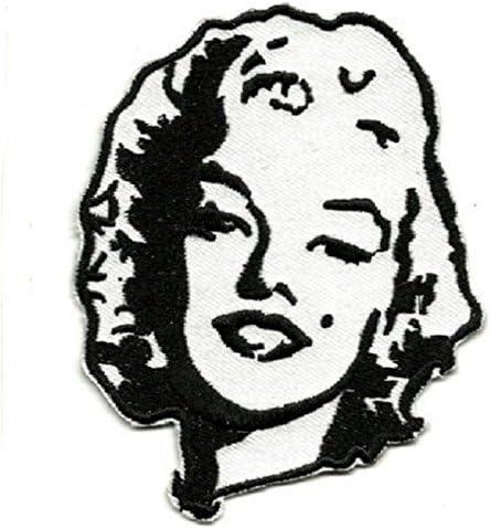 hotrodspirit Patch Marilyn Monroe Noir et Blanc ecusson Femme pin up
