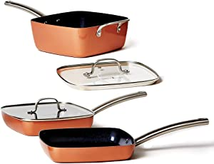 Copper-Chef-Stack-able-Black-Diamond-Fry-Pan-Set