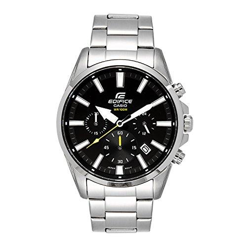 Casio Men's ' Edifice Quartz Stainless Steel Casual Watch, Color:Silver-Toned (Model: EFV-510D-1AVCF by Casio