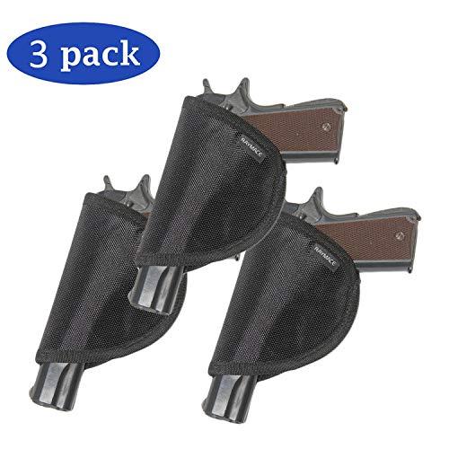 Raymace Pistol Holster with Melt Adhensive Gun Safe Accessories Handgun Holster Storage Solution Mounts Inside Safe Door (Black-3 Pack)
