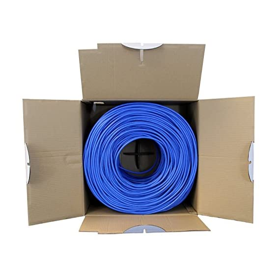 trueCABLE Cat6 Shielded Riser (CMR), 1000ft, Blue, 23AWG Solid Bare Copper, 550MHz, ETL Listed, Overall Foil Shield (FTP), Bulk Ethernet Cable 5 HIGH PERFORMANCE NETWORK CABLE. This riser rated cat 6 lan cable is 23 AWG with 4 pairs (8C). The overall aluminum (AL) foil shield helps eliminate cross-talk and outside interference. Suitable for Fast, Gigabit, and 10-Gigabit Ethernet. Supports bandwidth of up to 550 MHz. HASSLE FREE PACKAGING. 1000 feet (305 meters) of our trueCABLE product has been packaged in a tangle free, easy pull box so you don't have to worry about getting behind on your next job. 100% SOLID BARE COPPER CONDUCTORS. Pure bare copper produces a stronger signal along with better conductivity and flexibility when compared to copper clad aluminum (CCA).