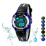 7 Colors Kids Sports Watches Children For Girls Boys Waterproof Military Dual Display LED Kids Watch