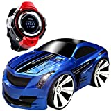 Voice Command Car+ Smart Watch, CEStore® Non-toxic Environmental Anti-Scratches 2.4GHz Radio Control Voice-activated RC Car w/ Rechargeable Li-ion Battery, Dazzling Headlights and Cool Brakes-Blue