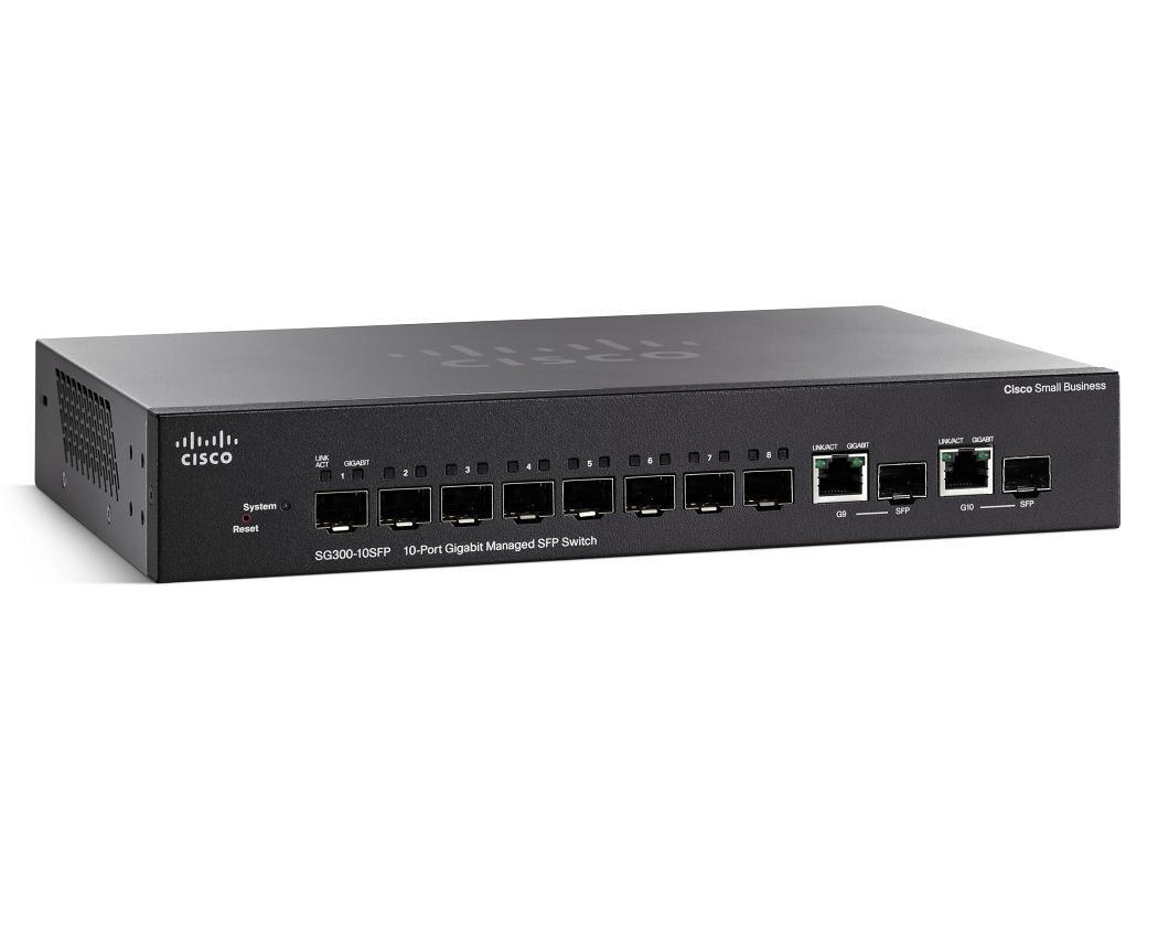 Cisco SG300-10SFP-K9 10-Port Gigabit Managed SFP Switch