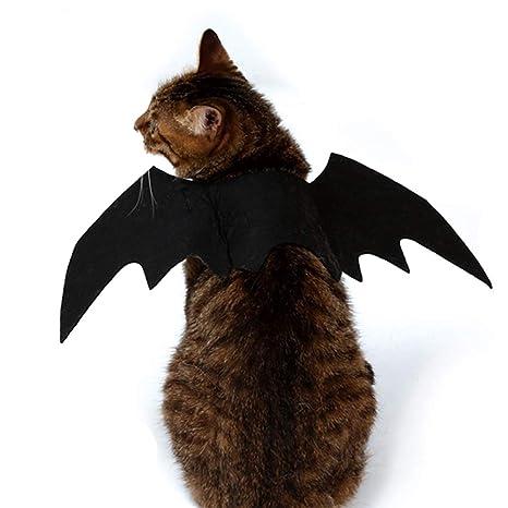 BulzEU Alas de Bate para Mascotas, Disfraz de Halloween, para Gatos, Perros,