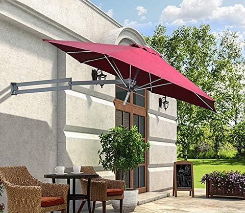 WeN-Parasols Parasol al Aire Libre Balcón Paraguas de Montaje en Pared Jardín Sombrilla telescópica para Sombra Solar, Ø 8 pies / 250 cm: Amazon.es: Hogar