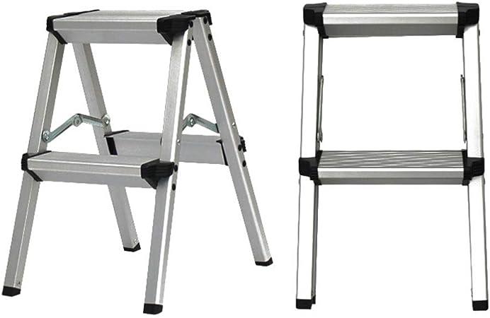 DZWSD Escaleras de Aluminio Plegables, 2/3/4/5 peldaños, Escalera Robusta y Resistente, Escalera portátil Ligera, Taburete, Blanco: Amazon.es: Hogar