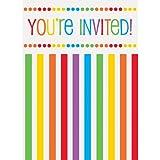 Rainbow Party Invitations, 8ct
