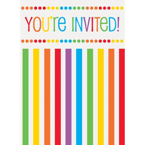 Rainbow Party Invitations,