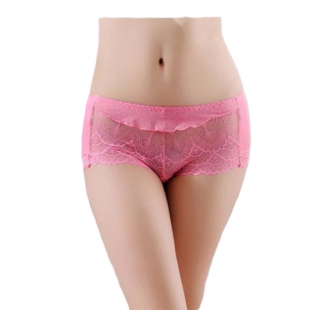 moxin Women's 5 Pack Cotton Lace Coverage Brief Panty Underwear, a, m by moxin