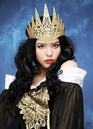Womens Fantasy Queen Gold Crown Headpiece