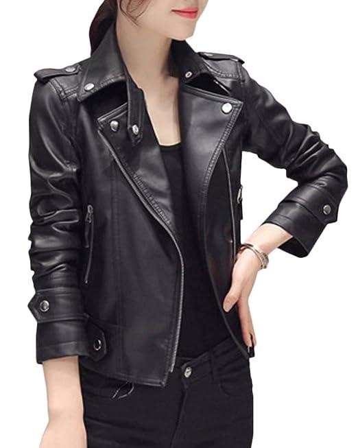Mujer Manga Larga Jacket Hippie Casual Slim Fit Chaquetas Cortas Negro XXL