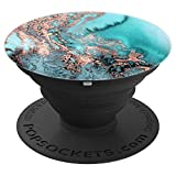 Teal Rose Marble Print Phone Accessory - PopSockets Grip and Stand for Phones and Tablets