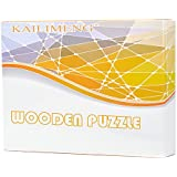 KAILIMENG 3D Wooden Cube Brain Teaser Puzzle