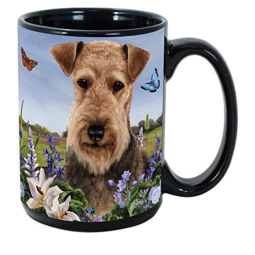 Imprints Plus Dog Breeds (A-D) Airedale 15-oz Coffee Mug Bundle with Non-Negotiable K-Nine Cash (airedale101)