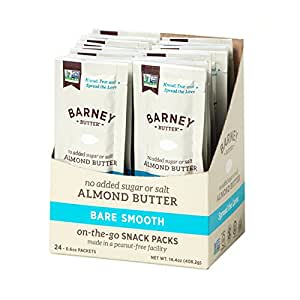 Barney Butter Almond Butter Bare Smooth Snack Pack, 24 Count