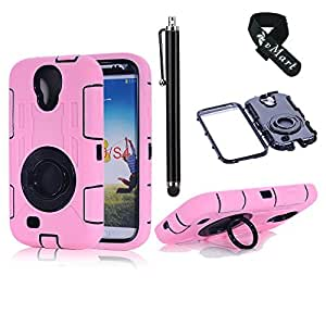 vMart Camera Appearance Design Hybrid Hard Case With Stand Case Cover for Samsung Galaxy S4,vMart-Pink