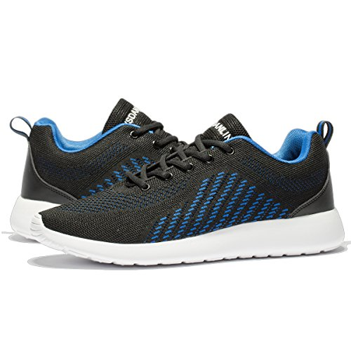 Pictures of VSDANLIN Men's Breathable Knit Running Shoes 2