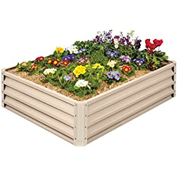 Metal Raised Garden Bed Kit - Elevated Planter Box For Growing Herbs, Vegetables, Flowers, and Succulents (1)