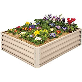 metal raised garden bed kit elevated planter box for growing herbs vegetables