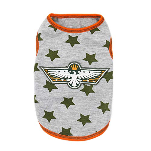 kyeese Dog Shirt Stars Spring Summer Soft Dog T-Shirt Tank Top Sleeveless Vest Pet Clothes