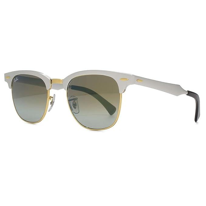 Ray-Ban Gafas de Sol CLUBMASTER ALUMINUM (51 mm): Amazon.es ...