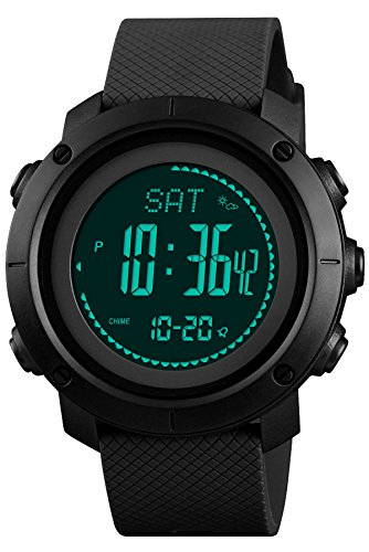 (Mens Altimeter Barometer Compass Digital Watch Military Sports Electronic Multifunction Watch Pedometer)