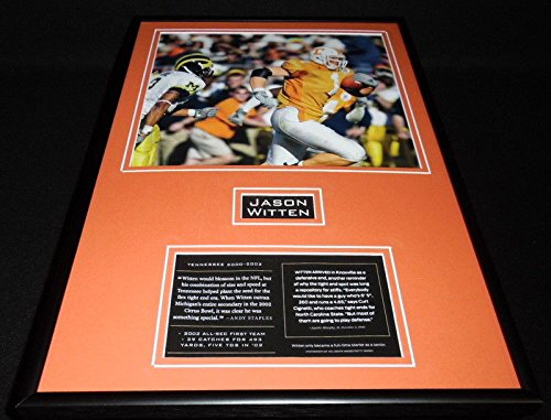 Jason Witten Framed 12x18 Photo Display Tennessee
