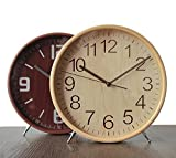 Living room modern minimalist decoration wood clock clock mute creative bedside clock,Log