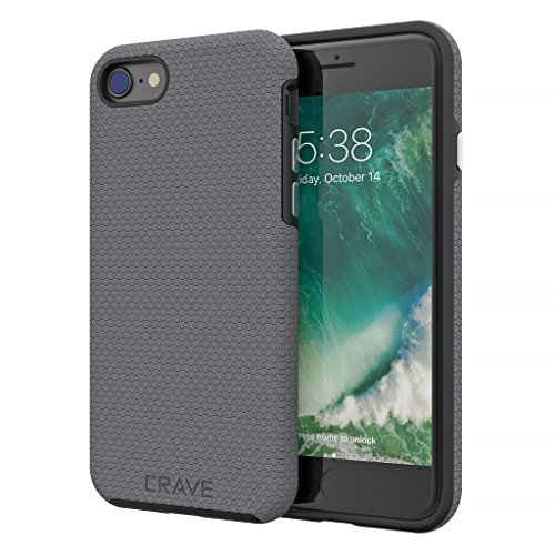 iPhone 8 Case, iPhone 7 Case, Crave Dual Guard Protection Series Case for Apple iPhone 8/7 (4.7 Inch) - Slate