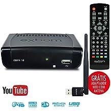 Conversor de TV Digital com YouTube Wi-Fi Internet Função Gravador e USB Full HD ISDBT