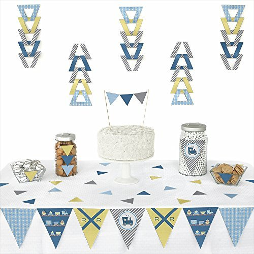 Train - Triangle Party Decoration Kit - 72 Pieces (Train Pennant)