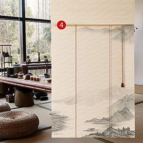 YJTJZL - Estor de bambú, madera enrollable, cortina exterior ...