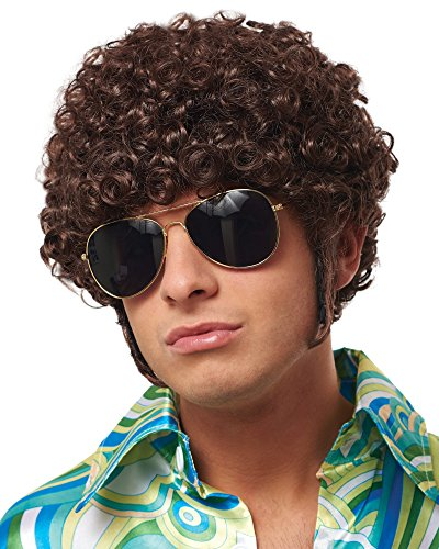 Price comparison product image Costume Culture Men's That 70's Guy Wig,  Brown
