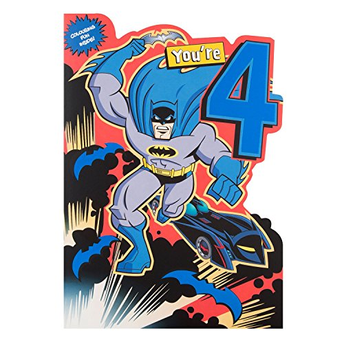 "Hallmark Warner Brothers 4th Birthday Card ""Batman"" - Medium"