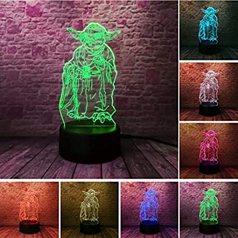 Klsoo Star Wars 3D Bulbing Lamp Led Master Yoda Leader ...