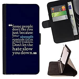 DEVIL CASE - FOR Sony Xperia Z1 Compact D5503 - Motivational Strength Hate Positive Quote - Style PU Leather Case Wallet Flip Stand Flap Closure Cover