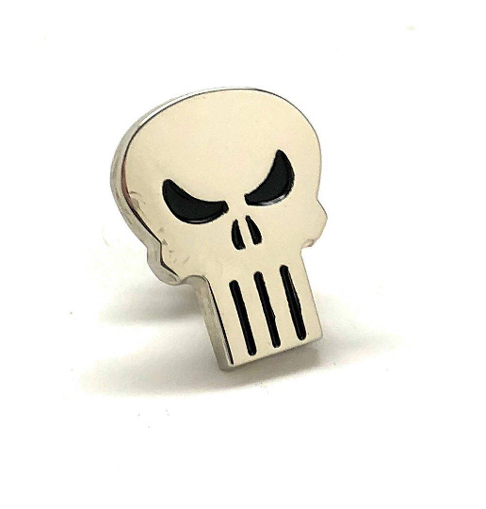 Men's Executive Lapel Pin Punisher Skull Lapel Pin Silver Tone Tie Tac Licensed Marvel Comics Limited