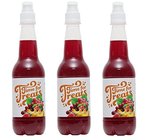 (Pack of 3 Victorio Time for Treats Snow Cone Syrups 16.9oz Made in USA (Tropical)