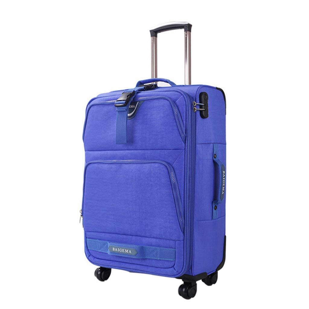 Mesurn JP 高級オックスフォードブラスボックス、耐摩耗性防水ファブリック ロッド、耐久性、360°ミュートキャスター、スーツケースロックボックス 20Inch Blue B07P2L2F2J