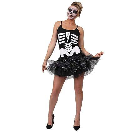 ILOVEFANCYDRESS SEÑORAS DE Esqueleto Halloween Vestido DE ...